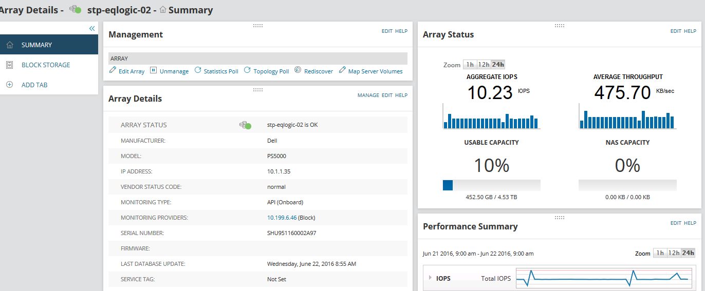 Dell Storage Performance Monitoring | SolarWinds