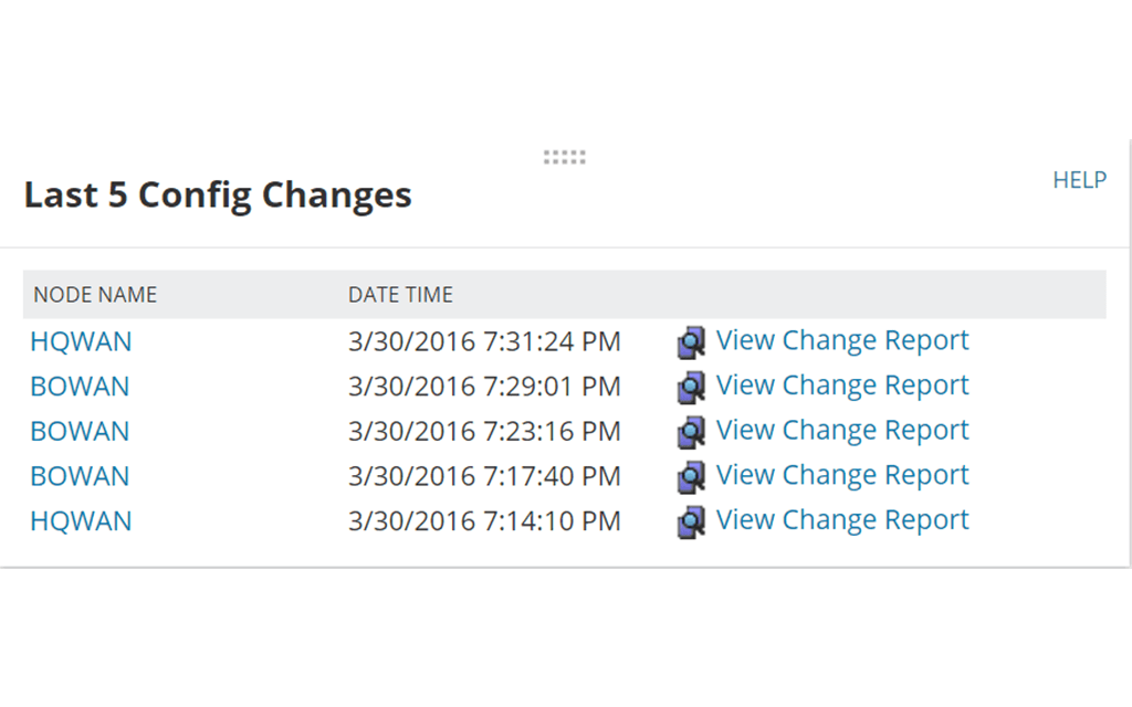 View of real-time change detection