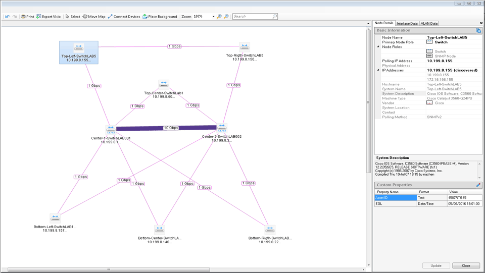 Network Diagram Software Leading Design Layout Tool Solarwinds