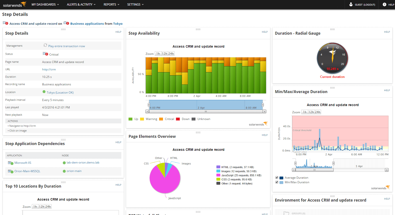 Performing synthetic end-user monitoring with Web Performance Monitor.