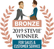 BRONZE - 2019 Stevie Winner for Sales & Customer Service