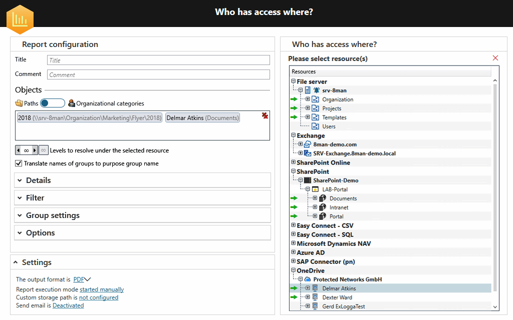 risk assessment report in SolarWinds ARM