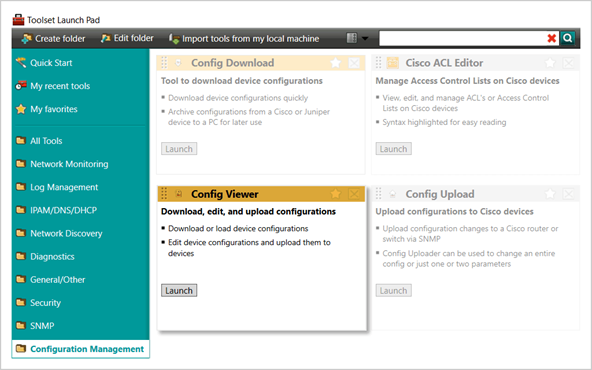 View, Edit & Backup Router & Switch Configs | SolarWinds