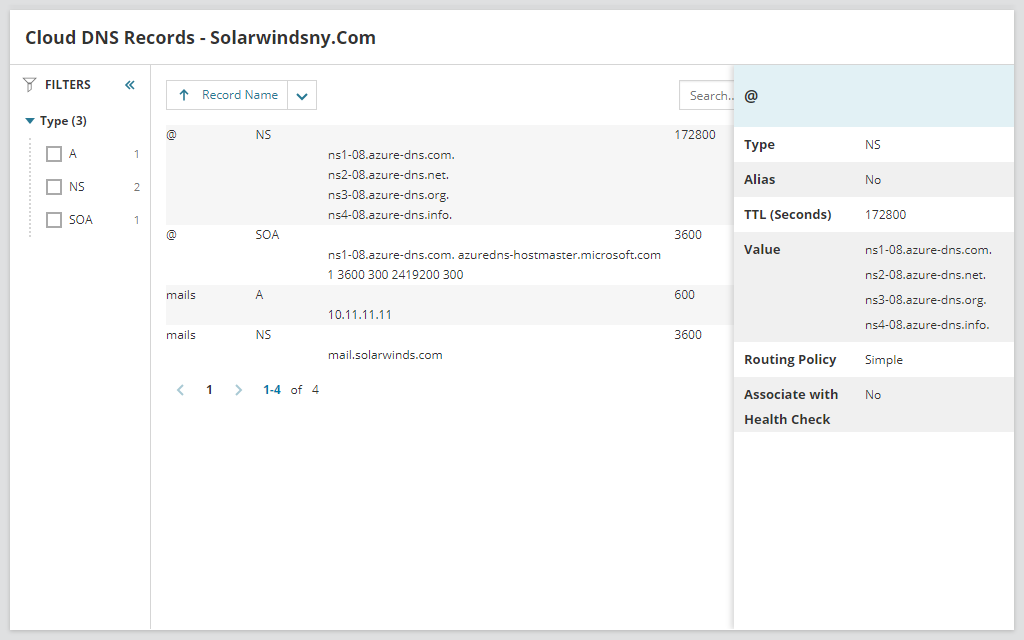 Hybrid DNS Monitoring and Troubleshooting Tool | SolarWinds