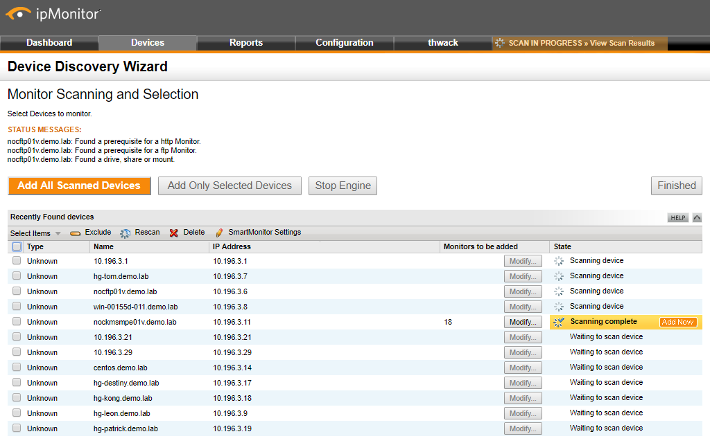 ipMonitor - Quick & Affordable Agentless IT Monitoring Tool