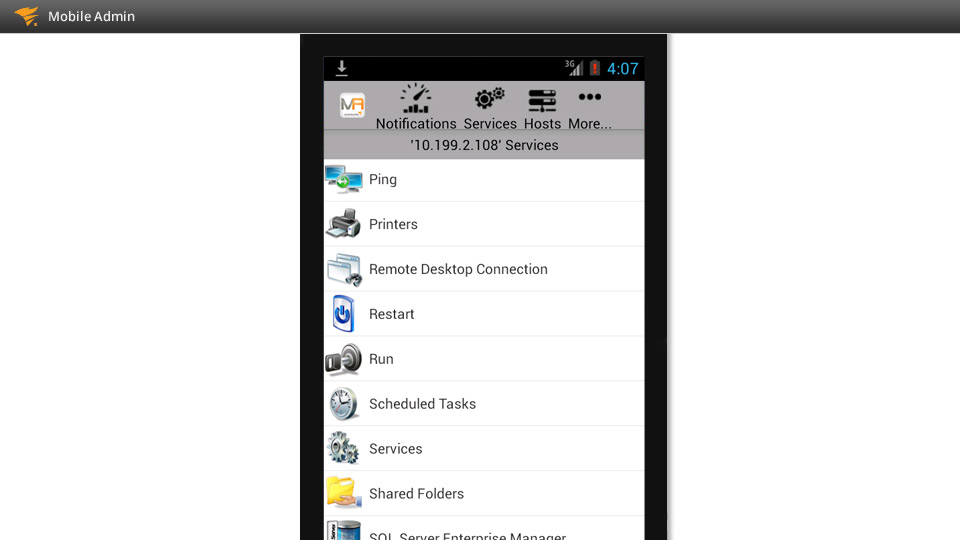 Mobile IT Administration App | SolarWinds