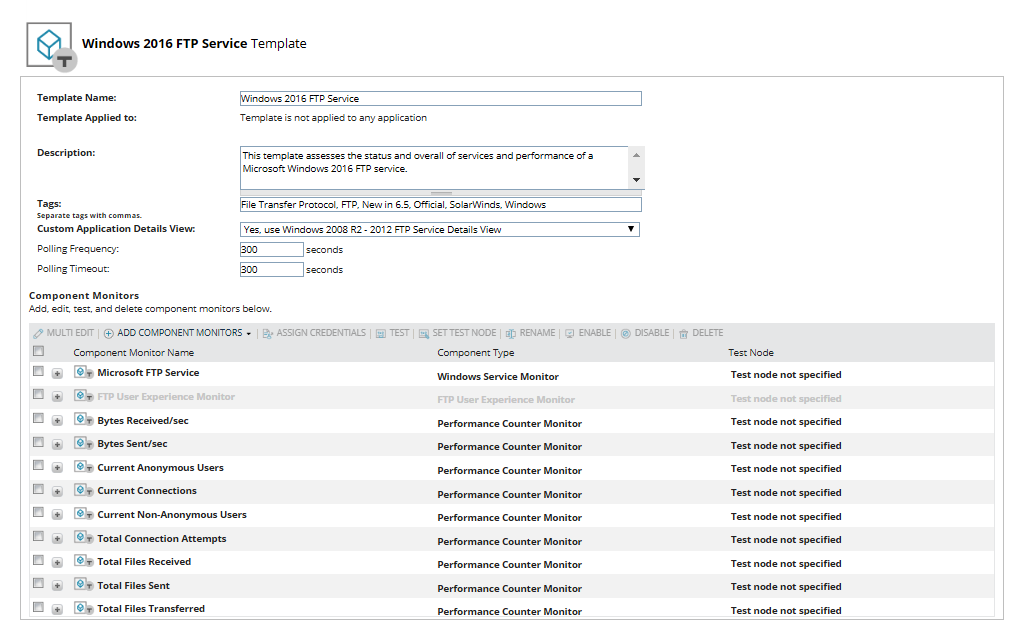 Monitor FTP Traffic - FTP Monitoring and Performance Tool   SolarWinds