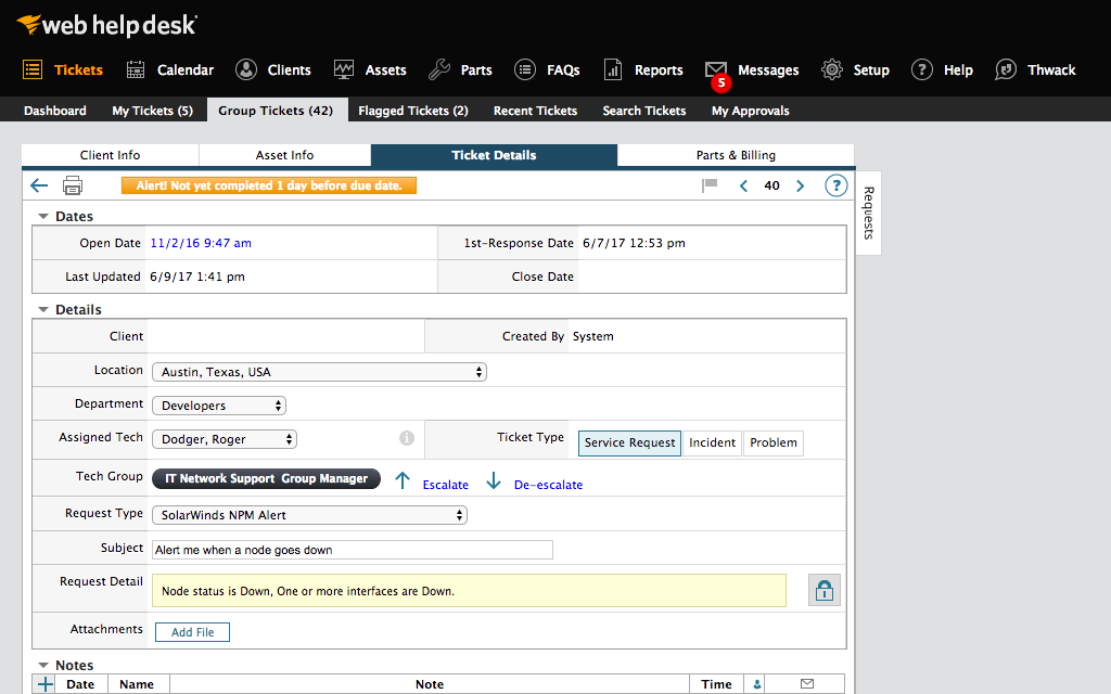 Link Service Requests To Each Other Track And Manage It Projects Involving Multiple Tasks Regardless Of Type