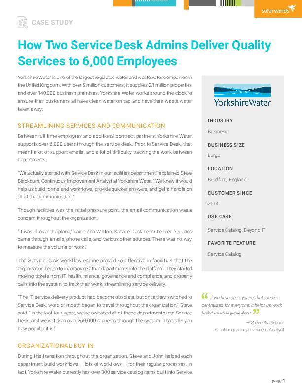 How Two Service Desk Admins Deliver Quality Services to 6,000