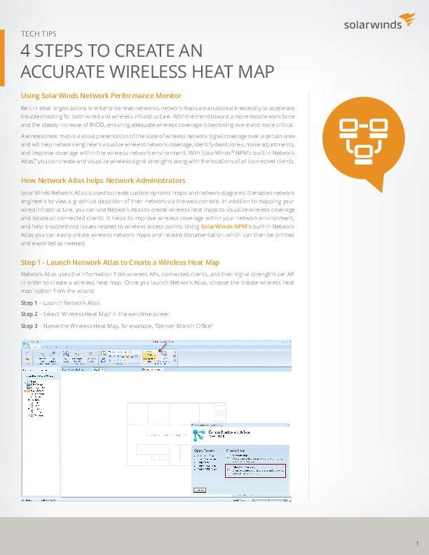 Four Steps To Create An Accurate Wireless Heat Map Tech Tip - Wireless signal map