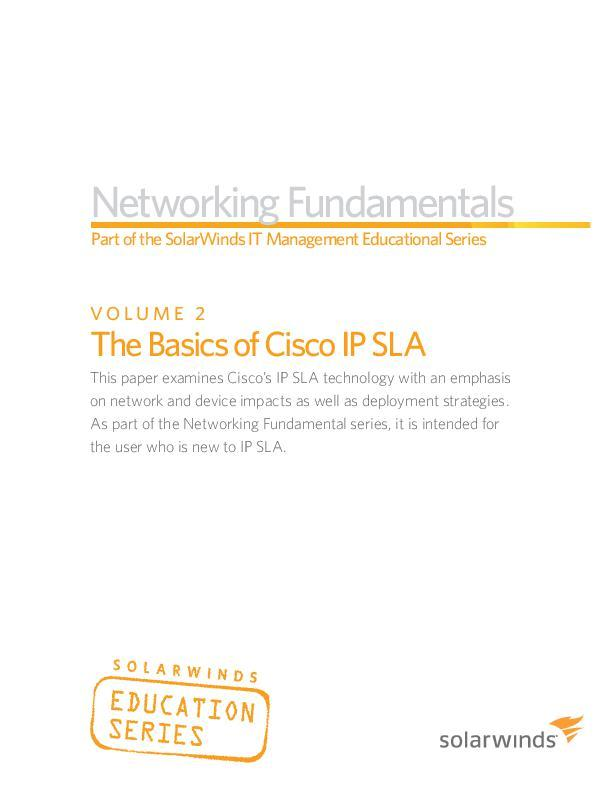 networking fundamentals vol 2 the basics of cisco ip sla